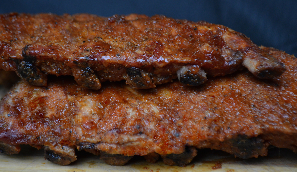 Ribs Grilled On Pellet Grill