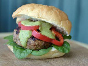 Grilled Turkey Burger On A Pellet BBQ