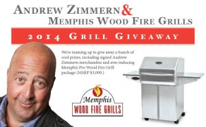 CONTEST ALERT! WIN A MEMPHIS WOOD FIRE GRILL FROM ANDREW ZIMMERN!