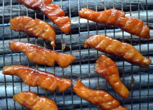 Smoked Salmon Candy On Memphis Grill