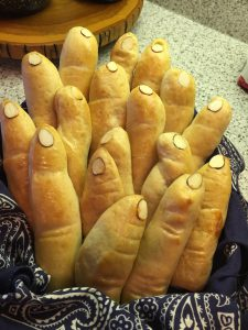 Bread Fingers made on Memphis grill