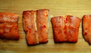 Salmon Grilled on Memphis Grill