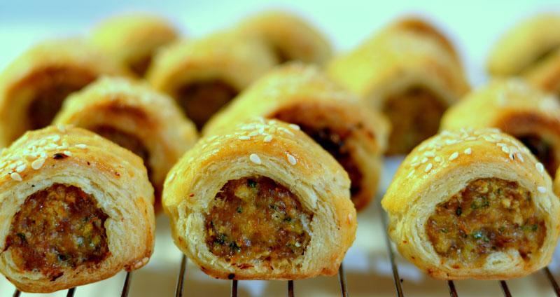 Grilling Chicken Sausage Rolls