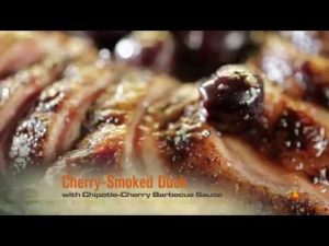 Cherry Smoked Duck Made On Memphis Grill