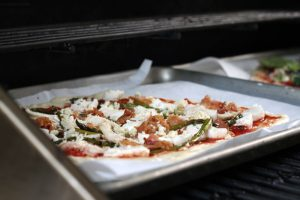 Specialty Pizza Made On Pellet Grill