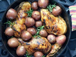 Grilling Balsamic Glazed Chicken