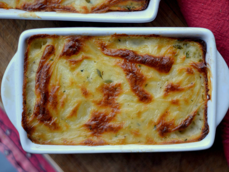 Grilled Scalloped Potatoes With Pellet Grill