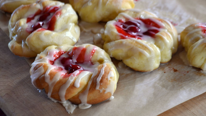 Grilling Cherry Danish with Memphis Pellet Grill