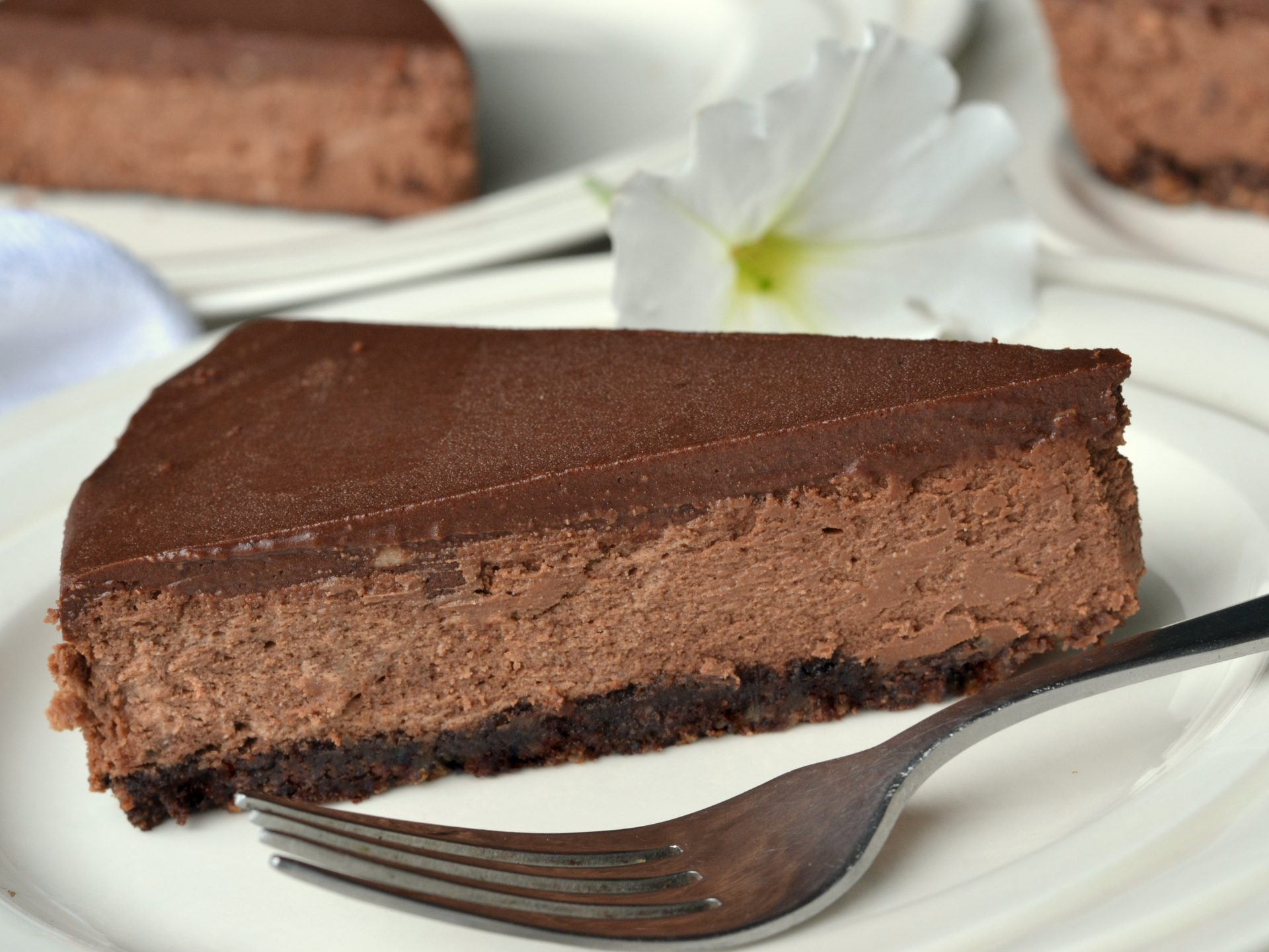 Chocolate Cheesecake   Baking on the Memphis Grill