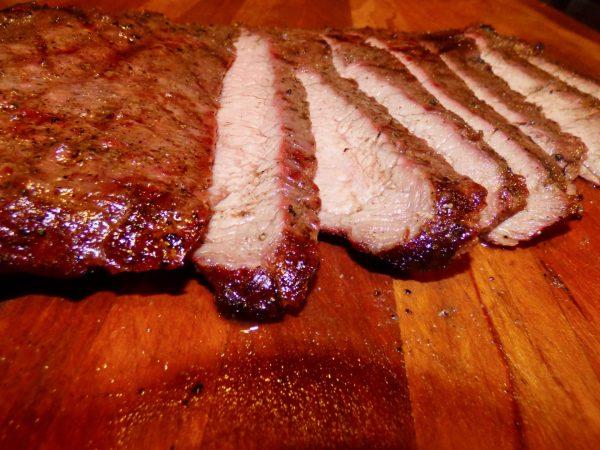 Marinated Basque Pepper Flank Steak, Memphis Grills