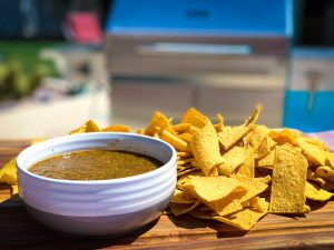 Roasted Tomatillo and Chipotle Salsa