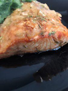 Glazed Salmon on Plate