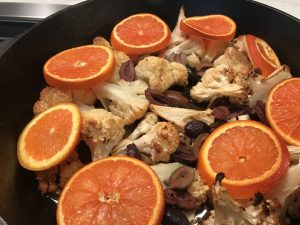 Cauliflower With Olives and Oranges