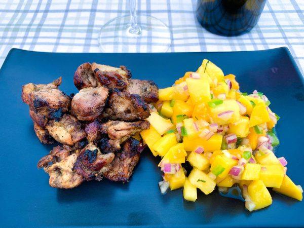 Grilled Jerk Chicken with Caribbean Salsa, Memphis Grills